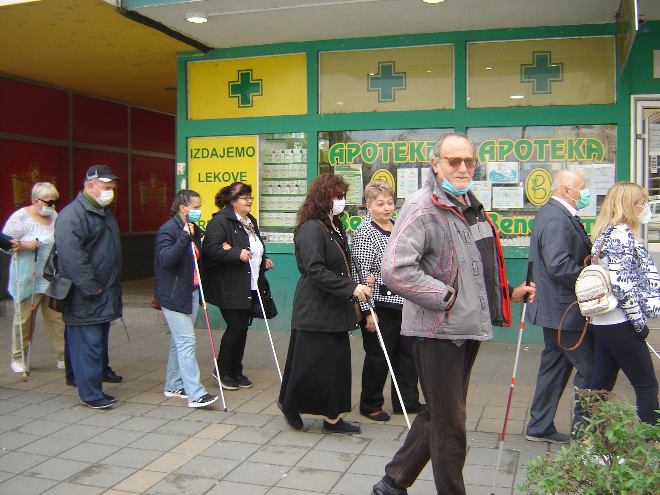 У Лесковцу обележен 15.октобар, Међународни дан слепих